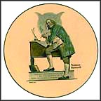 Ben Franklin Collector Plate by Norman Rockwell