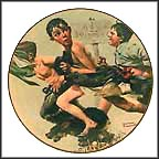 The Streaker Collector Plate by Norman Rockwell
