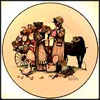 Country Pedlar Collector Plate by Norman Rockwell