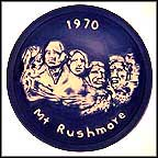 Mt. Rushmore Collector Plate by Judy Sutcliffe MAIN