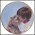Friday's Child Collector Plate by Leon Barnard