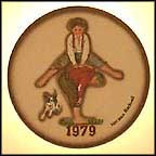 Leap Frog Collector Plate by Norman Rockwell