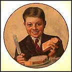 Butterboy Collector Plate by Norman Rockwell