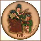 Christmas Trio Collector Plate by Norman Rockwell