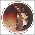 The Snake Escapes Collector Plate by Norman Rockwell