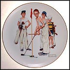 Missed! Collector Plate by Norman Rockwell MAIN