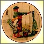 Whitewashing The Fence Collector Plate by Norman Rockwell MAIN