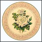 White Masterpiece Rose Collector Plate by Edward Marshall Boehm