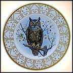 Great Horned Owl Collector Plate by Edward Marshall Boehm MAIN