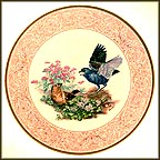 Blue Grosbeak With Fringed Bleeding Heart Collector Plate by Edward Marshall Boehm