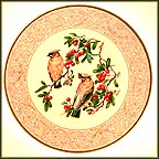 Cedar Waxwing With Farethorn Collector Plate by Edward Marshall Boehm MAIN