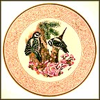 Downy Woodpecker With Flowering Cherry Collector Plate by Edward Marshall Boehm MAIN