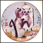 Primping Time Collector Plate by Brenda Frybach
