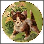 Daisy Kitten Collector Plate by Sadako Mano