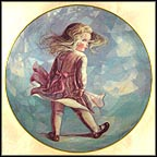 Windy Day Collector Plate by Jo Anne Mix MAIN