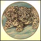 Snow Leopards Collector Plate by Violet Parkhurst MAIN