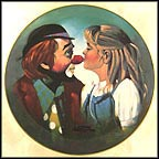 Kiss For A Clown - artist signed Collector Plate by Chuck Oberstein