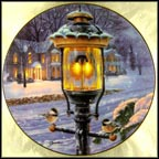 Winter Visitors Collector Plate by Darrel Bush