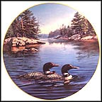 Loons Collector Plate by James A. Meger MAIN