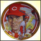The Legendary Johnny Bench Collector Plate by Robert Tanenbaum