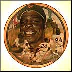 The Great Willie Mays Collector Plate by Robert Tanenbaum
