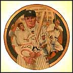 The Immortal Babe Ruth Collector Plate by Robert Tanenbaum