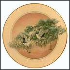 Cranes Of Eternal Life Collector Plate by John Cheng