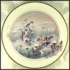 Goldfinches Of Virtue Collector Plate by John Cheng