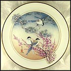 Magpies And Birds Of Good Omen Collector Plate by John Cheng