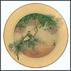 Oriental White Eyes Of Beauty Collector Plate by John Cheng