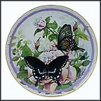 Spicebush Swallowtail Collector Plate by Paul J. Sweany MAIN