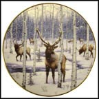 Silent Snowfall Collector Plate by Jeff Tift