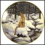 Snowy Watch Collector Plate by Jeff Tift