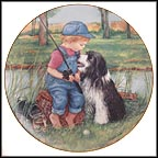 Fishing Buddies Collector Plate by Patricia Brooks