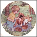 Picnic Pals Collector Plate by Patricia Brooks