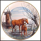 A Winter's Walk Collector Plate by John Michael Vass