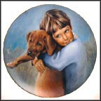 The Golden Puppy Collector Plate by Nancy A. Noel