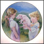 The Piglet Collector Plate by Nancy A. Noel