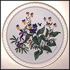April - Johnny Jump-Ups and Violets Collector Plate by Linda Thompson MAIN