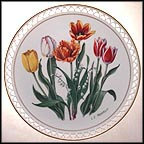 May - Lily of the Valley and Tulips Collector Plate by Linda Thompson MAIN