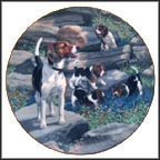 Beagles Collector Plate by Robert Christie MAIN