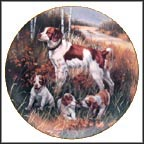 Brittany Spaniels Collector Plate by Robert Christie MAIN