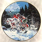 Land of The Winter Hawk Collector Plate by Frank McCarthy MAIN