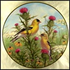 Golden Glories Collector Plate by Marc R. Hanson