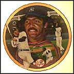 Reggie Jackson: Mr. October Collector Plate by Terrence Fogarty
