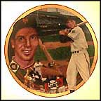 Bobby Thomson's Shot Heard 'round The World Collector Plate by Terrence Fogarty MAIN