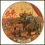 Elephants Collector Plate by Franklin Moody