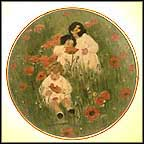 Among The Poppies Collector Plate by Jessie Willcox Smith