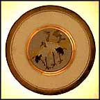 New Year's Day - Pine And Crane Collector Plate by Shuho And Senkin Kage