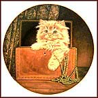 Purrfect Treasure Collector Plate by Pam Cooper